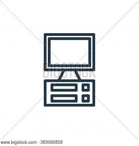 desktop computer icon isolated on white background from computer hardware collection. desktop comput