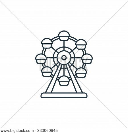 ferris wheels icon isolated on white background from carnival collection. ferris wheels icon trendy