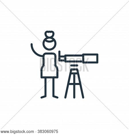 astronomy icon isolated on white background from arts collection. astronomy icon trendy and modern a
