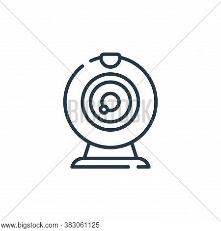 webcam icon isolated on white background from digital learning collection. webcam icon trendy and mo