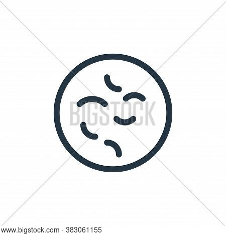 bacteria icon isolated on white background from medicine collection. bacteria icon trendy and modern