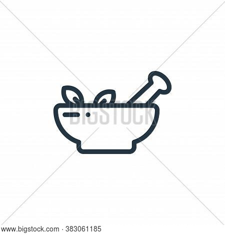 mortar icon isolated on white background from laboratory collection. mortar icon trendy and modern m