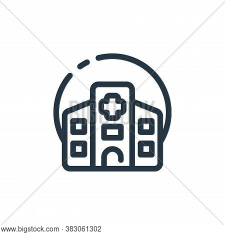 hospital building icon isolated on white background from hospital collection. hospital building icon