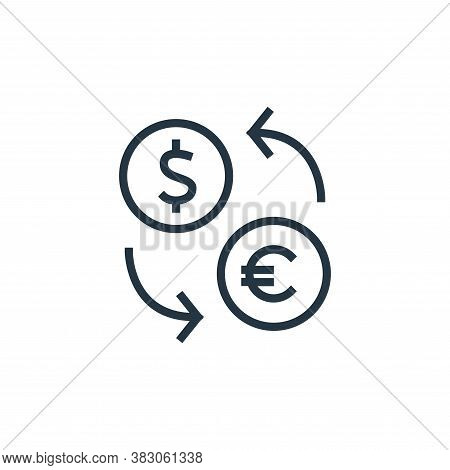 currency icon isolated on white background from banking collection. currency icon trendy and modern