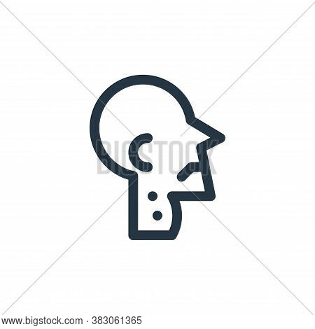 throat icon isolated on white background from quit smoking collection. throat icon trendy and modern