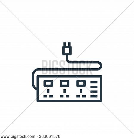 plug icon isolated on white background from computer hardware collection. plug icon trendy and moder