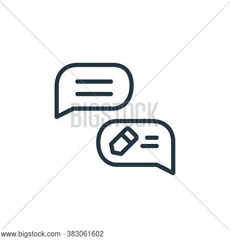 message icon isolated on white background from online learning part line collection. message icon tr