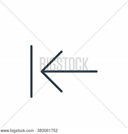 reverse arrow icon isolated on white background from user interface collection. reverse arrow icon t