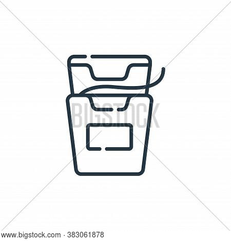 dental floss icon isolated on white background from hygiene routine collection. dental floss icon tr