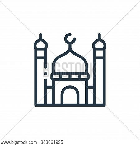 mosque icon isolated on white background from charity collection. mosque icon trendy and modern mosq