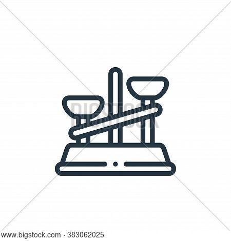 scale icon isolated on white background from laboratory collection. scale icon trendy and modern sca