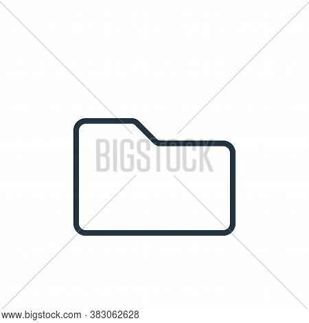 folder icon isolated on white background from office collection. folder icon trendy and modern folde