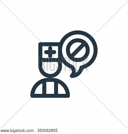 doctor icon isolated on white background from quit smoking collection. doctor icon trendy and modern