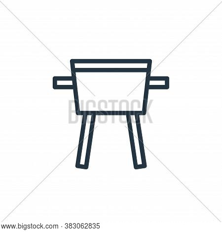 barbeque icon isolated on white background from summer collection. barbeque icon trendy and modern b