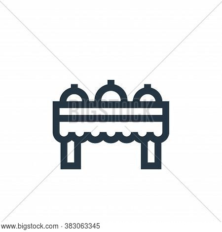 buffet icon isolated on white background from celebration collection. buffet icon trendy and modern
