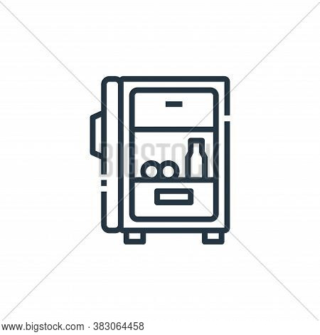 fridge icon isolated on white background from cooking collection. fridge icon trendy and modern frid