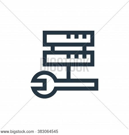 server icon isolated on white background from web maintenance collection. server icon trendy and mod