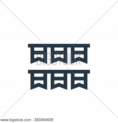 garlands icon isolated on white background from celebration collection. garlands icon trendy and mod