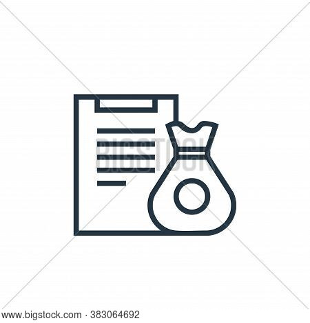 financial icon isolated on white background from banking collection. financial icon trendy and moder