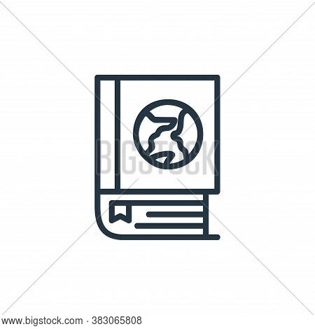 global icon isolated on white background from online learning part line collection. global icon tren