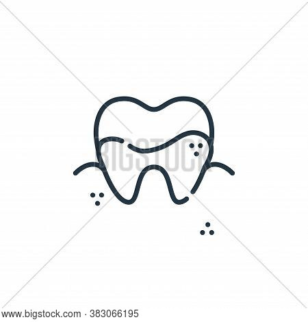 caries icon isolated on white background from dentist collection. caries icon trendy and modern cari
