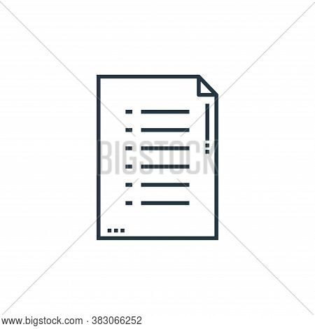 document icon isolated on white background from school collection. document icon trendy and modern d