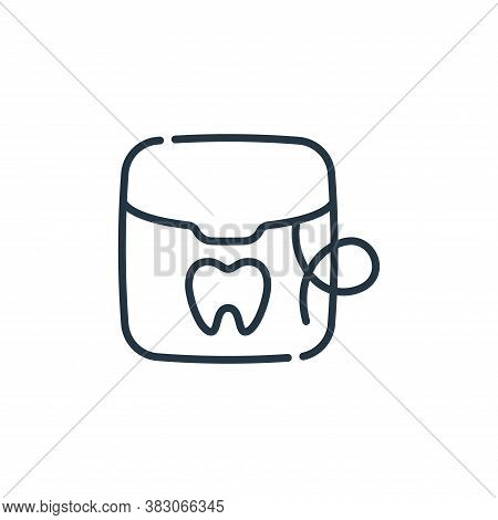 dental floss icon isolated on white background from dentist collection. dental floss icon trendy and