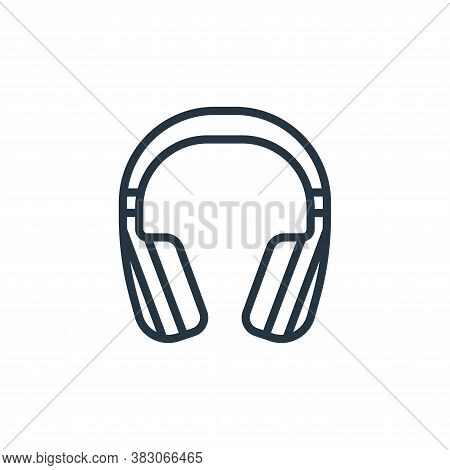 headset icon isolated on white background from computer hardware collection. headset icon trendy and