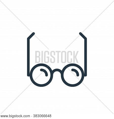 glass icon isolated on white background from working in the office collection. glass icon trendy and