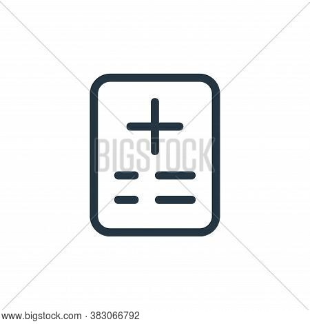 medical report icon isolated on white background from medicine collection. medical report icon trend