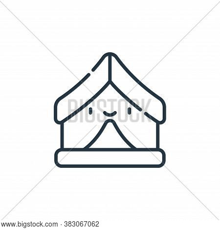 tent icon isolated on white background from videogame elements collection. tent icon trendy and mode