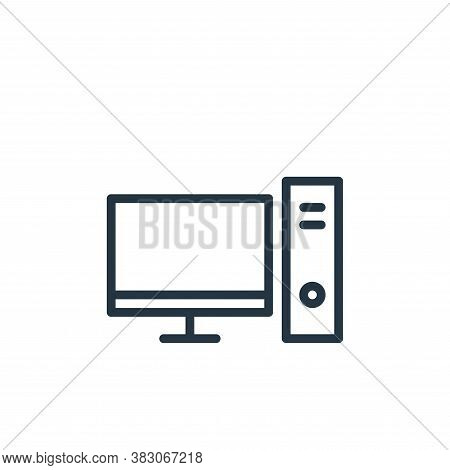 workstation icon isolated on white background from working in the office collection. workstation ico