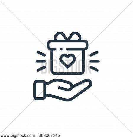 gift icon isolated on white background from charity collection. gift icon trendy and modern gift sym