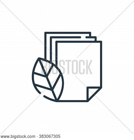 paper icon isolated on white background from ecology collection. paper icon trendy and modern paper