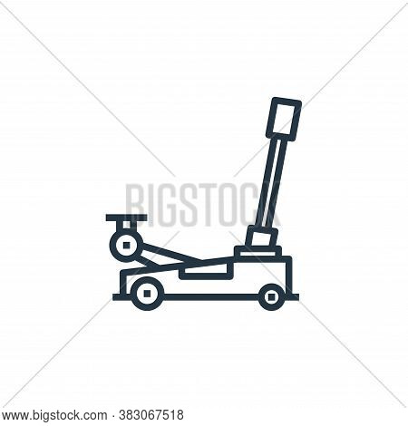 hydraulic jack icon isolated on white background from car service collection. hydraulic jack icon tr