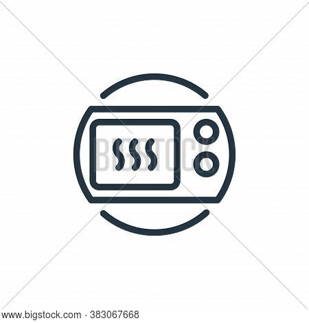 microwave icon isolated on white background from electrical appliances collection. microwave icon tr
