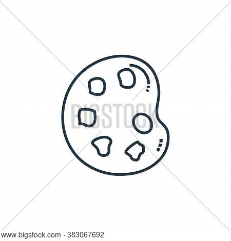 palette icon isolated on white background from school collection. palette icon trendy and modern pal