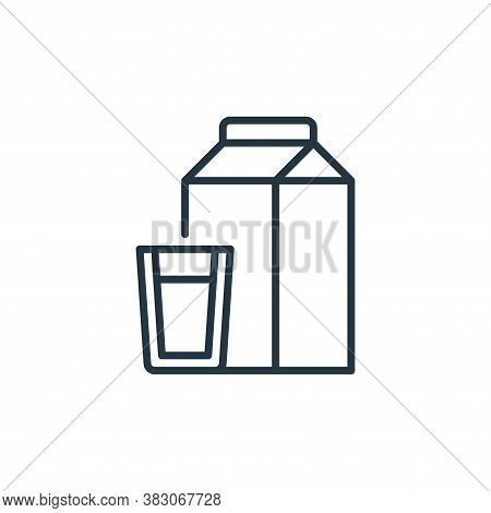 milk icon isolated on white background from food and drinks allergy collection. milk icon trendy and