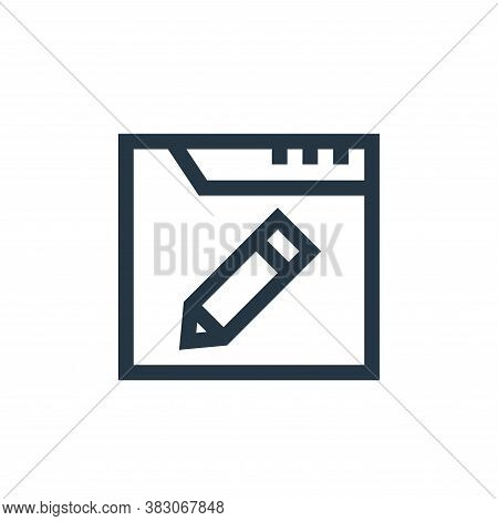 edit icon isolated on white background from web maintenance collection. edit icon trendy and modern