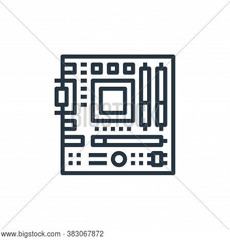 motherboard icon isolated on white background from computer hardware collection. motherboard icon tr