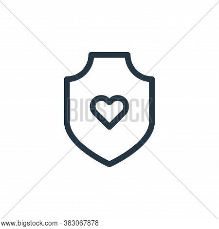 protective icon isolated on white background from medicine collection. protective icon trendy and mo