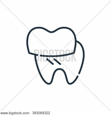 dental veneer icon isolated on white background from dentist collection. dental veneer icon trendy a