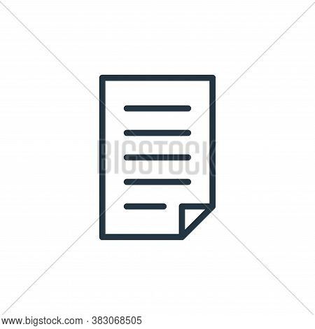 text document icon isolated on white background from working in the office collection. text document