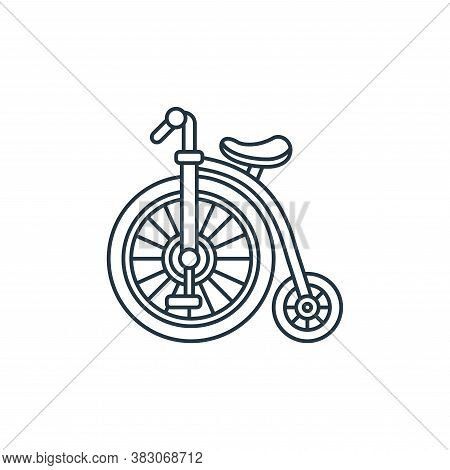 bicycle icon isolated on white background from carnival collection. bicycle icon trendy and modern b