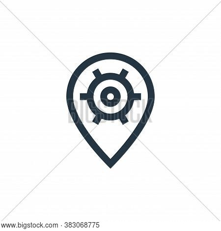 pin icon isolated on white background from web maintenance collection. pin icon trendy and modern pi