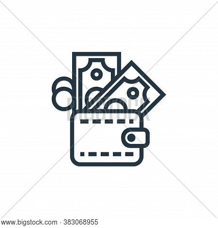 wallet icon isolated on white background from banking collection. wallet icon trendy and modern wall