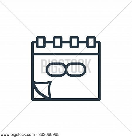 unlimited icon isolated on white background from online learning part line collection. unlimited ico