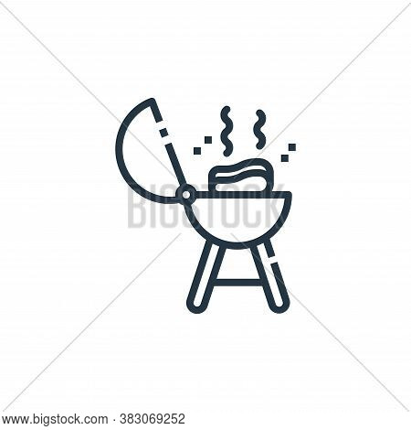 barbecue icon isolated on white background from cooking collection. barbecue icon trendy and modern