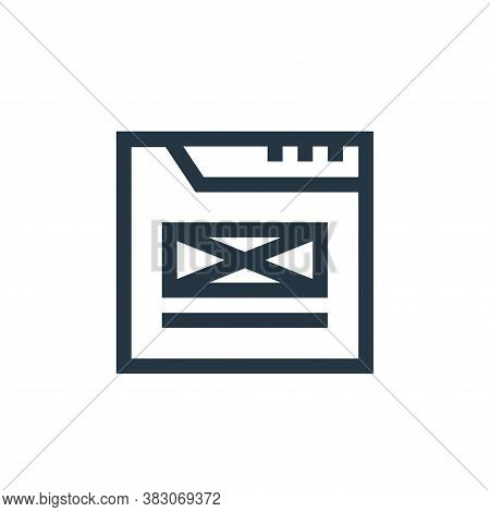 wireframe icon isolated on white background from web maintenance collection. wireframe icon trendy a