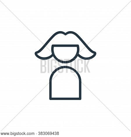 friend icon isolated on white background from online learning part line collection. friend icon tren